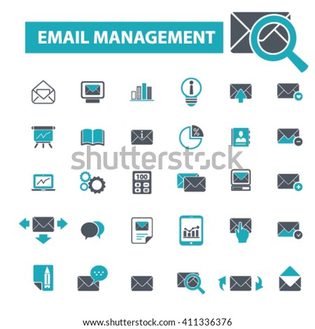 email management icons  #411336376