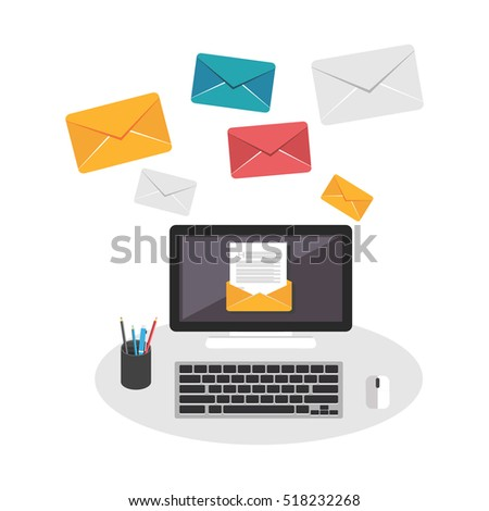Email marketing, Email concept.