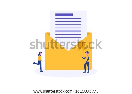 Email marketing illustration concept for web landing page template, banner, flyer and presentation