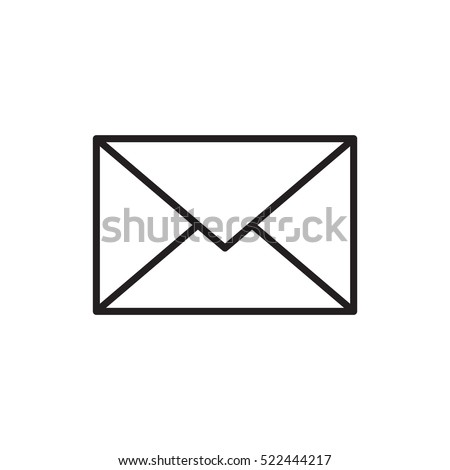 Email message envelope icon outline