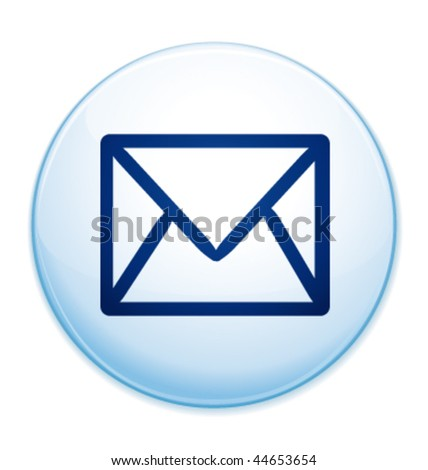 stock vector : Email message icon. Vector illustration.
