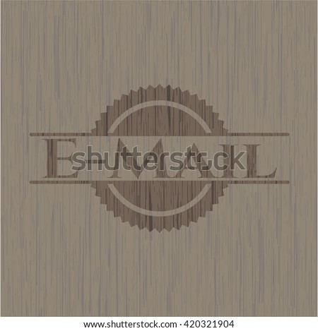 Email retro wood emblem