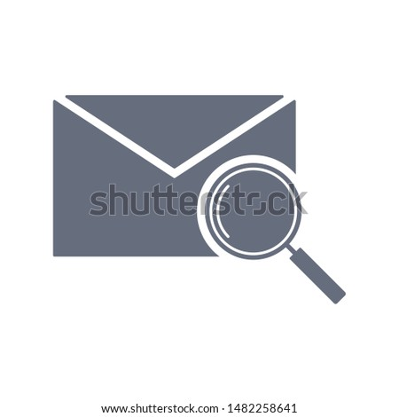 Email search icon. Magnifying glass or search icon. Search icon vector. Search icon.