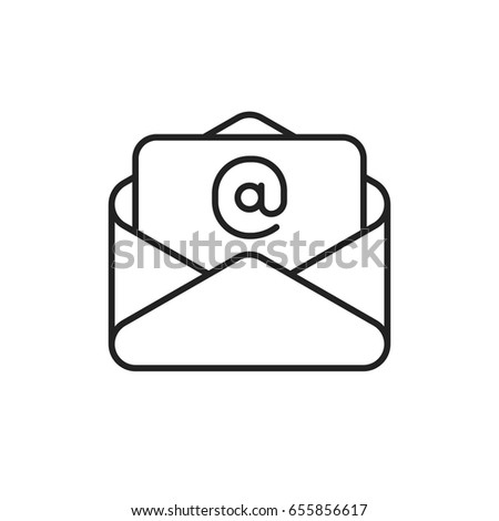 Email vector line icon