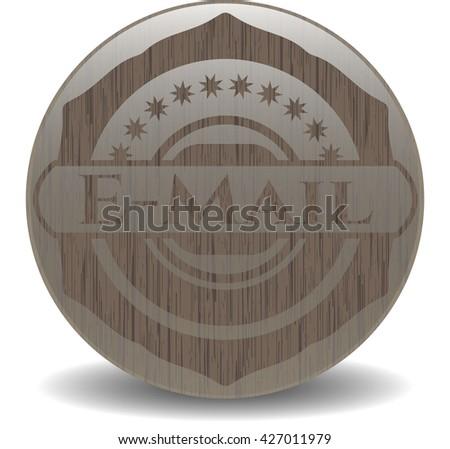 Email wooden emblem. Retro