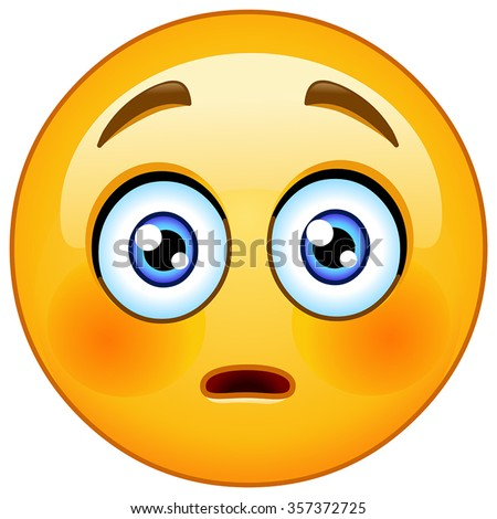 embarrassed emoticon with