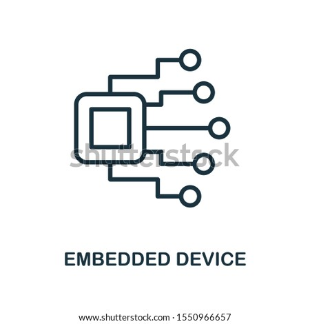 Embedded Device icon outline style. Thin line creative Embedded Device icon for logo, graphic design and more.