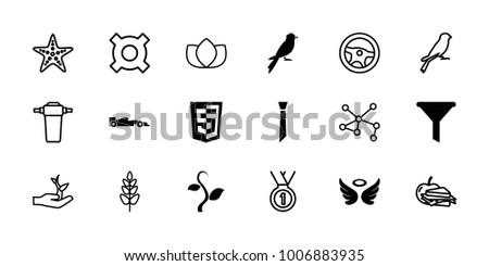 emblem icons set of 18
