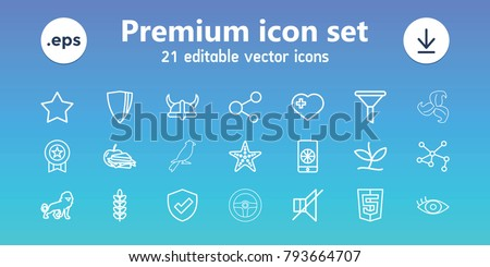 emblem icons set of 21