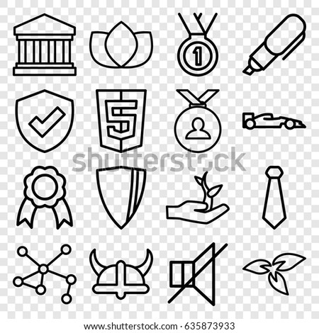 emblem icons set set of 16