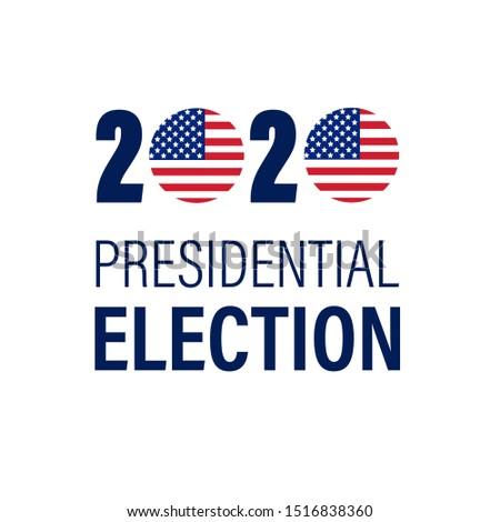 Emblem of presidential election USA. Vector illustration