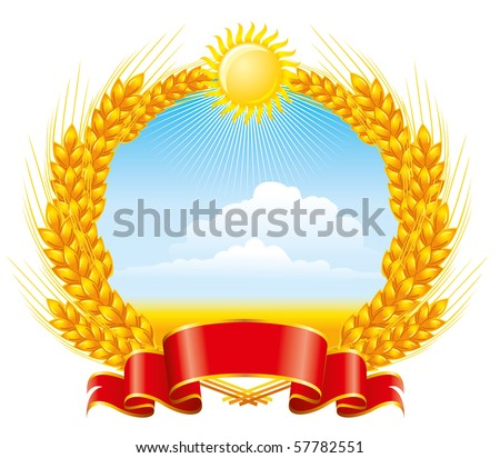 Emblem of wheat. Package design