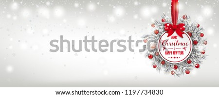 emblem with frozen twigs  snow