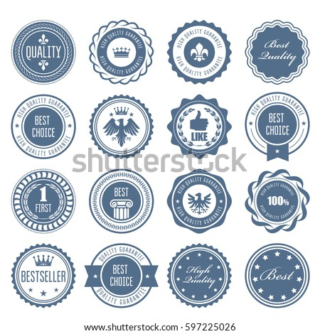 Emblems, badges and stamps - awards and seals designs