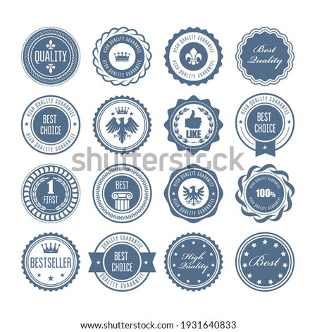 Emblems, badges and stamps, set of awards, blazons and heraldic seals designs, vector  Stock photo ©