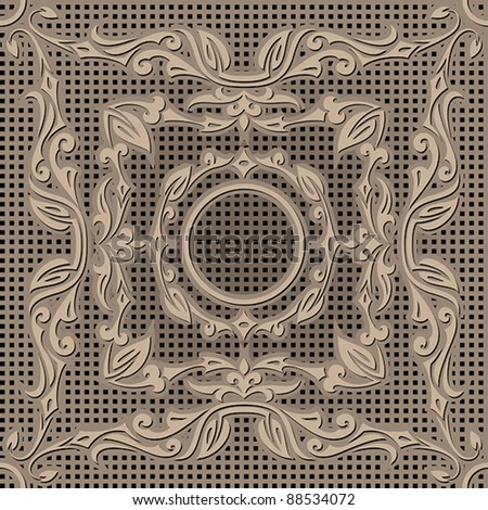 Copper Embossed Pattern