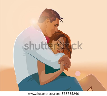 embraces of a loving couple