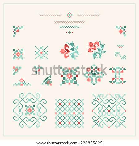 Embroidered design elements