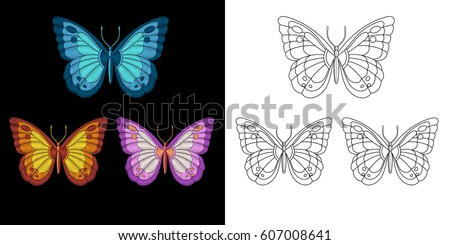 embroidery butterfly design