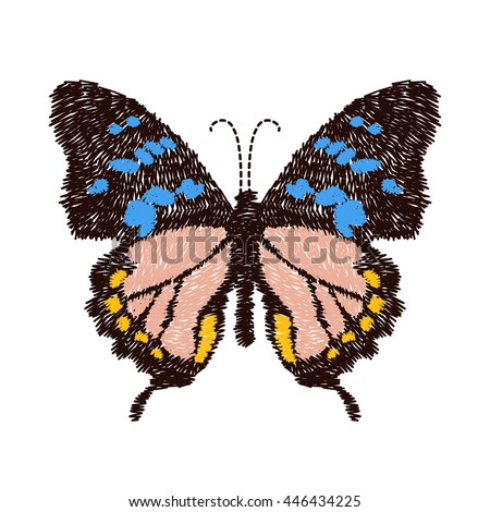 embroidery butterfly design for
