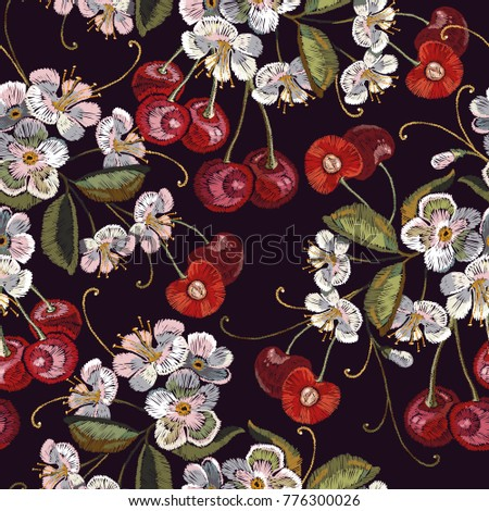 embroidery cherry blossom tree