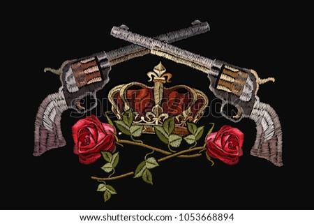 Free Guns And Roses Vector Download Free Vector Art Stock