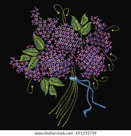 embroidery lilac  beautiful
