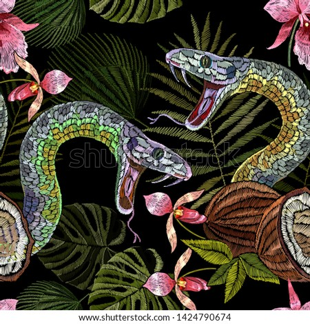 embroidery snake  coconut and