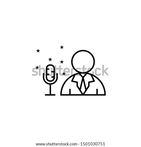 Emcee event management icon. Element of event management icon Stock photo ©