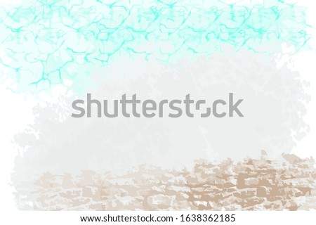 emerald green sea vector image