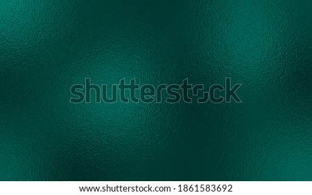 Emerald metallic effect. Turquoise texture foil. Background with glitterer metal effect. Blue green surface. Abstract backdrop glitter metal plate. Metallic texture foil for design prints. Vector