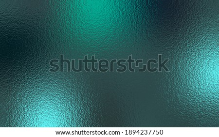 Emerald metallic effect. Turquoise texture foil. Background with glitterer metal effect foil. Blue green surface. Abstract teal backdrop glitter metal plate. Metallic vivid design for prints. Vector Photo stock ©