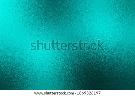 Emerald metallic effect. Turquoise texture shine foil. Background with glitterer metal effect. Blue green surface. Abstract backdrop glitter metal plate. Metallic texture. Design cards, prints. Vector