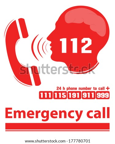 emergency call red color