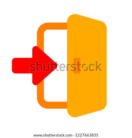emergency exit sign, exit door icon, exit strategy - door entrance
