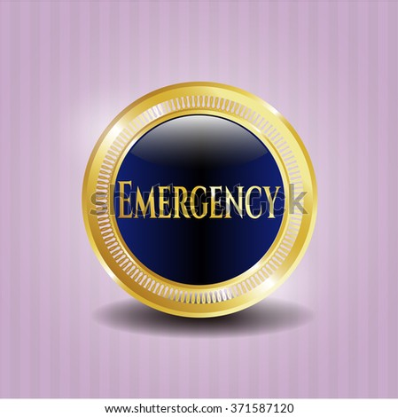 Emergency golden emblem