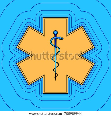 emergency or star of life with