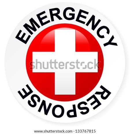 Emergency Response Badge Red