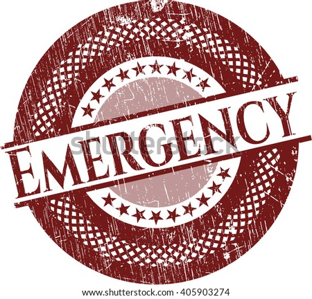 Emergency rubber grunge stamp