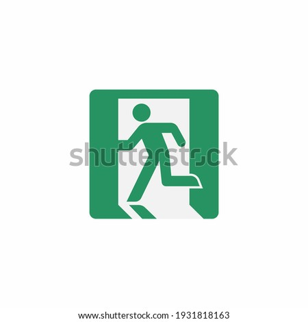 Emergency sign icon isolated on white background. Escape exit symbol modern, simple, vector, icon for website design, mobile app, ui. Vector Illustration Stock foto ©