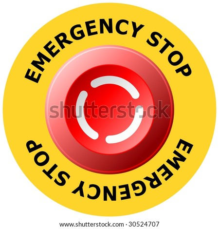 Vector Images Illustrations And Cliparts Emergency Stop Button