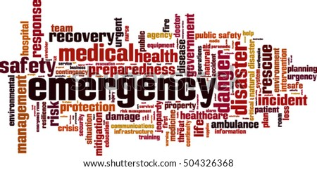 emergency word cloud concept
