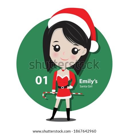 emily girl character in santa