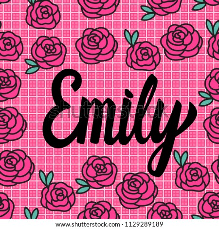 emily name card with lovely