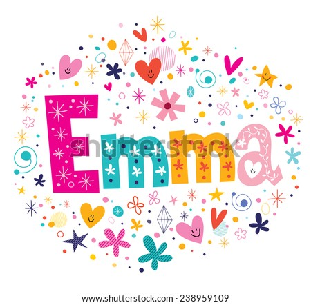 emma female name decorative
