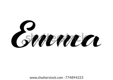 emma name lettering