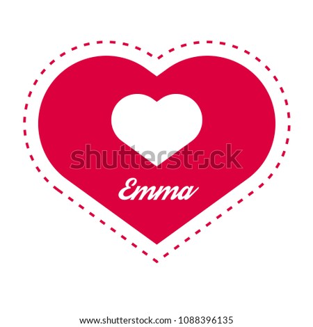 emma woman name with heart