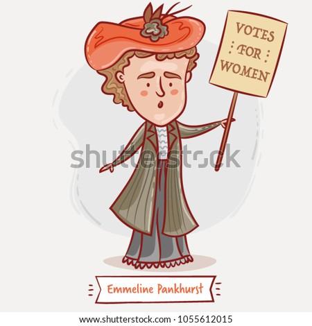 emmeline pankhurst  with a