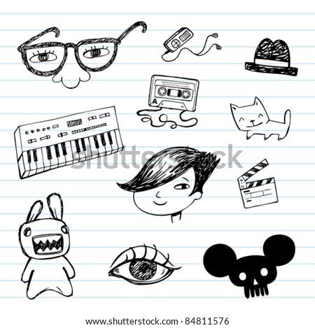 emo doodle set