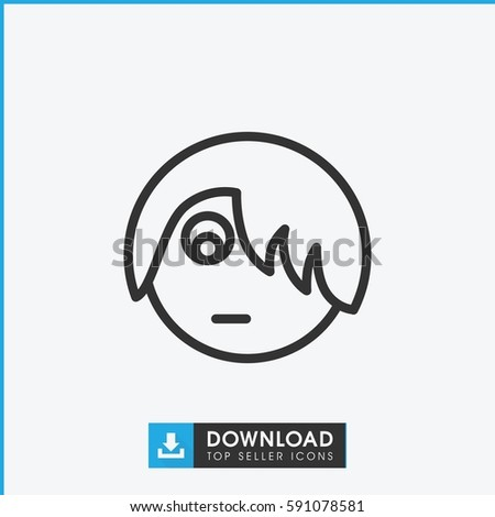 emo emot icon simple outline